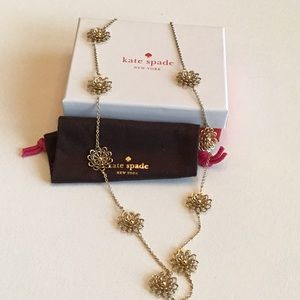NWOT Kate Spade New York Gold flower necklace
